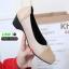รองเท้าคัชชูส้นสูง วัสดุหนังPU 0290-A3-KHA [สีกากี] thumbnail 2