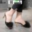 รองเท้าส้นสูงแบบสวมขนเฟอร์ ST6191-BLK [สีดำ] thumbnail 3