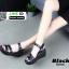 รองเท้า platform สไตล์เกาหลี G806-BLK [สีดำ] thumbnail 5