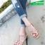 รองเท้าส้นสูงรัดส้นสีครีม YSL Tribute-Platfofm (สีครีม ) thumbnail 4