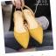 รองเท้าส้นเตี้ยรัดส้น ส้นตอก ยางยืดหลัง 1218-YEL [สีเหลือง] thumbnail 1
