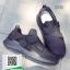 รองเท้าผ้าใบหุ้มข้อสีดำ แบบผูกเชือกแฟชั่น (สีดำ ) thumbnail 4