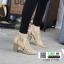 รองเท้าส้นสูง ฉลุลายสุดหรู 711102-KAKI [สีกากี] thumbnail 1