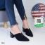 รองเท้าส้นตันสีดำ หัวแหลม (สีดำ ) thumbnail 2