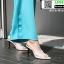 รองเท้าส้นสูงหัวแหลมแหลม ใสเปิดส้น H178-A12-WHI [สีขาว] thumbnail 4