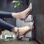 รองเท้าส้นสูงนำเข้าสไตล์เกาหลี 0653-เงิน [สีเงิน] thumbnail 4