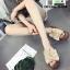 รองเท้าส้นเตารีด พื้นเสมอ G-1268-APR [สีแอปริคอท] thumbnail 1