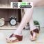 รองเท้าพียูเตารีด ผ้าซาติน PF2193-BRN [สีน้ำตาล] thumbnail 1