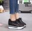 รองเท้าผ้าใบเสริมส้น งานนำเข้า100% ST315-BLK [สีดำ] thumbnail 3