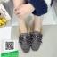 รองเท้าคัทชูแฟชั่น สไตล์เกาหลี ทรงหัวตัด แต่งโบว์เพชร (สีดำ ) thumbnail 4