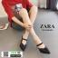 รองเท้าเปิดส้น Zara style หัวแหลม C3-12-BLK [สีดำ] thumbnail 1