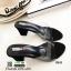 รองเท้าส้นสูงแบบสวม พลาสติกใสนิ่ม RU45-ดำ [สีดำ] thumbnail 1