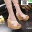 รองเท้าส้นเตารีด สไตล์เกาหลี 17-2288-CRM [สีครีม] thumbnail 2