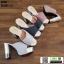 รองเท้านำเข้า100% ส้นแท่งแบบสวม ST335-BLK [สีดำ] thumbnail 5