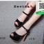 รองเท้าส้นสูงรัดข้อเปิดหน้าหลัง 18-1331-BLK [สีดำ] thumbnail 1
