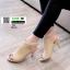 รองเท้าส้นสูงลุกส์ปราด้าที่รัดข้อ 10153-แทน [สีแทน] thumbnail 2
