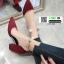 รองเท้าส้นสูงหัวแหลมนำเข้า HXY-0003-RED [สีแดง] thumbnail 2