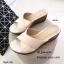รองเท้าส้นเตารีดหน้าไขว้ 028-83-ครีม [สีครีม] thumbnail 3