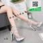 รองเท้าส้นสูง ลายกลิตเตอร์ เกาหลี 17-2304-SILVER [สีเงิน]
