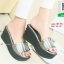 รองเท้าส้นเตารีดสีเทา สไตล์ลำลอง (สีเทา ) thumbnail 2