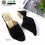 รองเท้าส้นสูงเปิดหน้า 150-39-BLACK [สีดำ ]