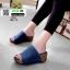 รองเท้าส้นเตารีดหน้าเต็ม 960-15-น้ำเงิน [สีน้ำเงิน] thumbnail 3