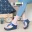 รองเท้าส้นเตารีด งานเพื่อสุขภาพ 6135-BLUE [สีน้ำเงิน] thumbnail 2