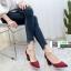 รองเท้าส้นสูงหัวแหลมนำเข้า HXY-0003-RED [สีแดง] thumbnail 1