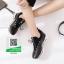 รองเท้าผ้าใบเพื่อสุขภาพสีดำ หนังนิ่ม (สีดำ ) thumbnail 6
