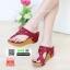 รองเท้าแตะเพื่อสุขภาพ พียู แบบหนีบ M1650-RED [สีแดง] thumbnail 2