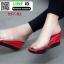 รองเท้าลำลองแบบสวมส้นเตารีด 957-83-RED [สีแดง] thumbnail 3