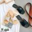 รองเท้าแตะแฟชั่น สวมใส่ง่าย สายไขว้ G-1459-BLK [สีดำ] thumbnail 3