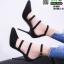 รองเท้าคัชชูรัดข้อส้นเข็ม ST1860-BLK [สีดำ]