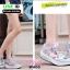 รองเท้าผ้าใบ แบบเสริมพื้นลายดอก W803-PNK [สีชมพู] thumbnail 5