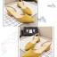 รองเท้าส้นเตี้ยรัดส้น ส้นตอก ยางยืดหลัง 1218-YEL [สีเหลือง] thumbnail 4