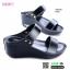 รองเท้าสไตล์ลำลองแบบสวมคาดหน้าสองตอน GS6149-BLK [สีดำ] thumbnail 2