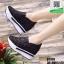 รองเท้าผ้าใบเสริมส้นแบบสวม ST319-BLK [สีดำ] thumbnail 3