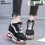 รองเท้าผ้าใบเสริมส้น ST26-BLK [สีดำ] thumbnail 2