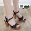 รองเท้าส้นสูงนำเข้า สไตล์เกาหลี 18-1411-BLACK [สีดำ] thumbnail 1
