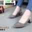 รองเท้าส้นสูงรัดส้น คริสตัล 850-5-KHA [สีกากี]