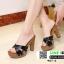 รองเท้าส้นสูงเสริมหน้า หน้าไขว้ 907-2-BLK [สีดำ] thumbnail 5