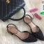 รองเท้าส้นเตี้ยสีดำ Ankle Strap Sandal (สีดำ ) thumbnail 2