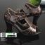 รองเท้าคัชชูหนังแกะ #ส้นสูงหนังแกะ แท้ 100% 8010-21-น้ำตาล [สีน้ำตาล ] thumbnail 3