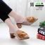 รองเท้าหน้าแหลม หนังสักหราด แต่งพู่ครอเซต สวยเด่น 1072-731-กากี [สีกากี] thumbnail 2