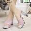 รองเท้านำเข้า100% ส้นแท่งแบบสวม ST335-PNK [สีชมพู] thumbnail 3