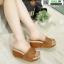รองเท้าสไตล์เพื่อสุขภาพ ทรงเตารีด T-121-TAN [สีแทน] thumbnail 3