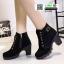 รองเท้าบูทส้นสูงนำเข้า JIH-888-BLK [สีดำ] thumbnail 3