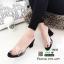 รองเท้าส้นสูงแบบสวม พลาสติกใสนิ่ม RU45-ดำ [สีดำ] thumbnail 3