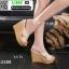 รองเท้าส้นเตารีด สไตล์เกาหลี 17-2288-CRM [สีครีม] thumbnail 1