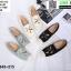 รองเท้าแบบสวม วัสดุผ้าด้านหน้า 345-213-CRM [สีครีม] thumbnail 3
